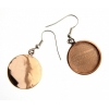 Bezel Handmade Earring Round 19x2mm Copper